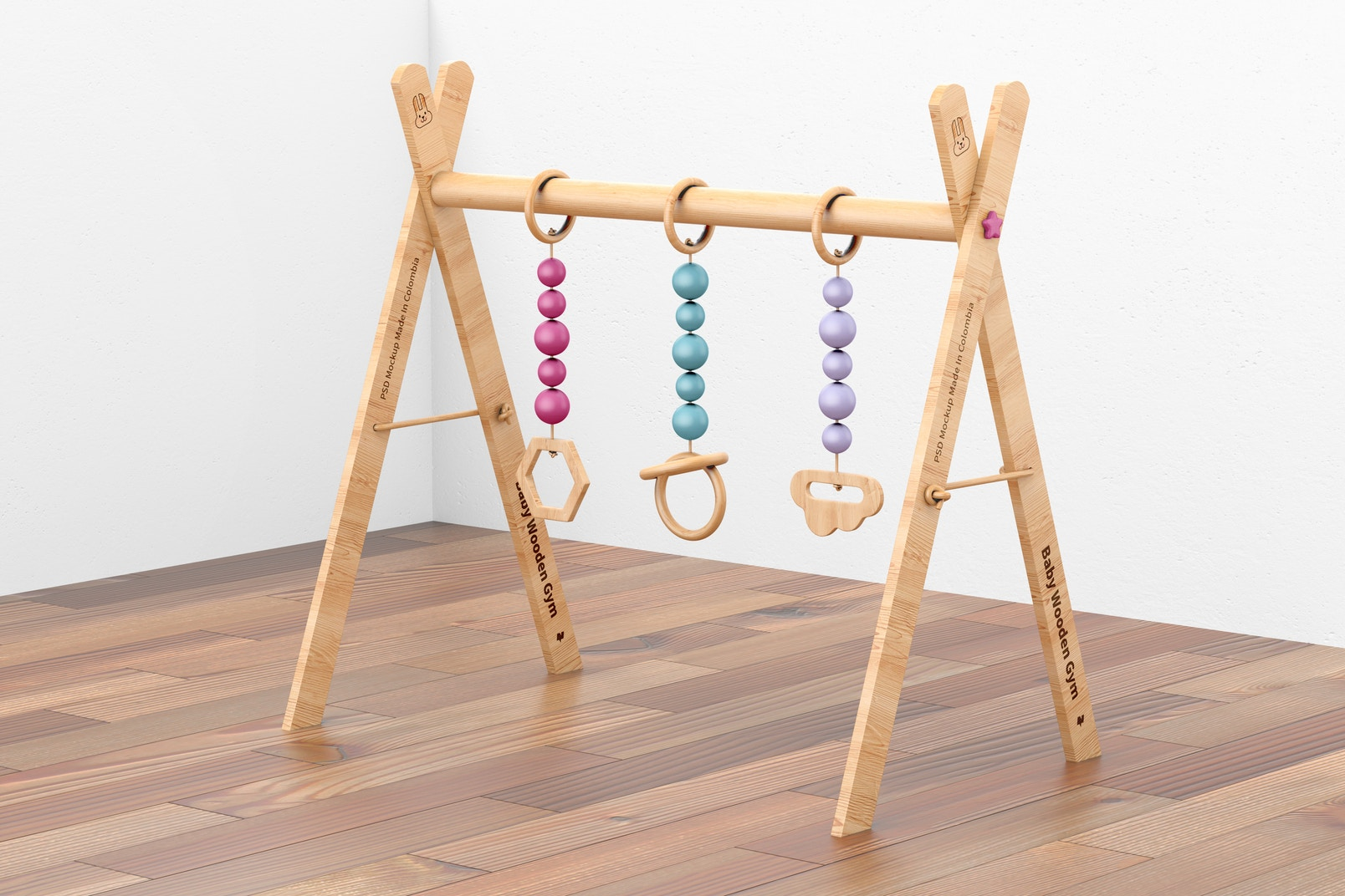 Baby Wooden Gym Mockup, Right View
