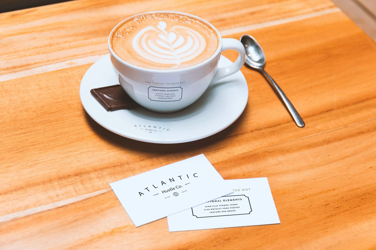 Business Cards and Coffee Cup Mockup por Original Mockups en Original Mockups