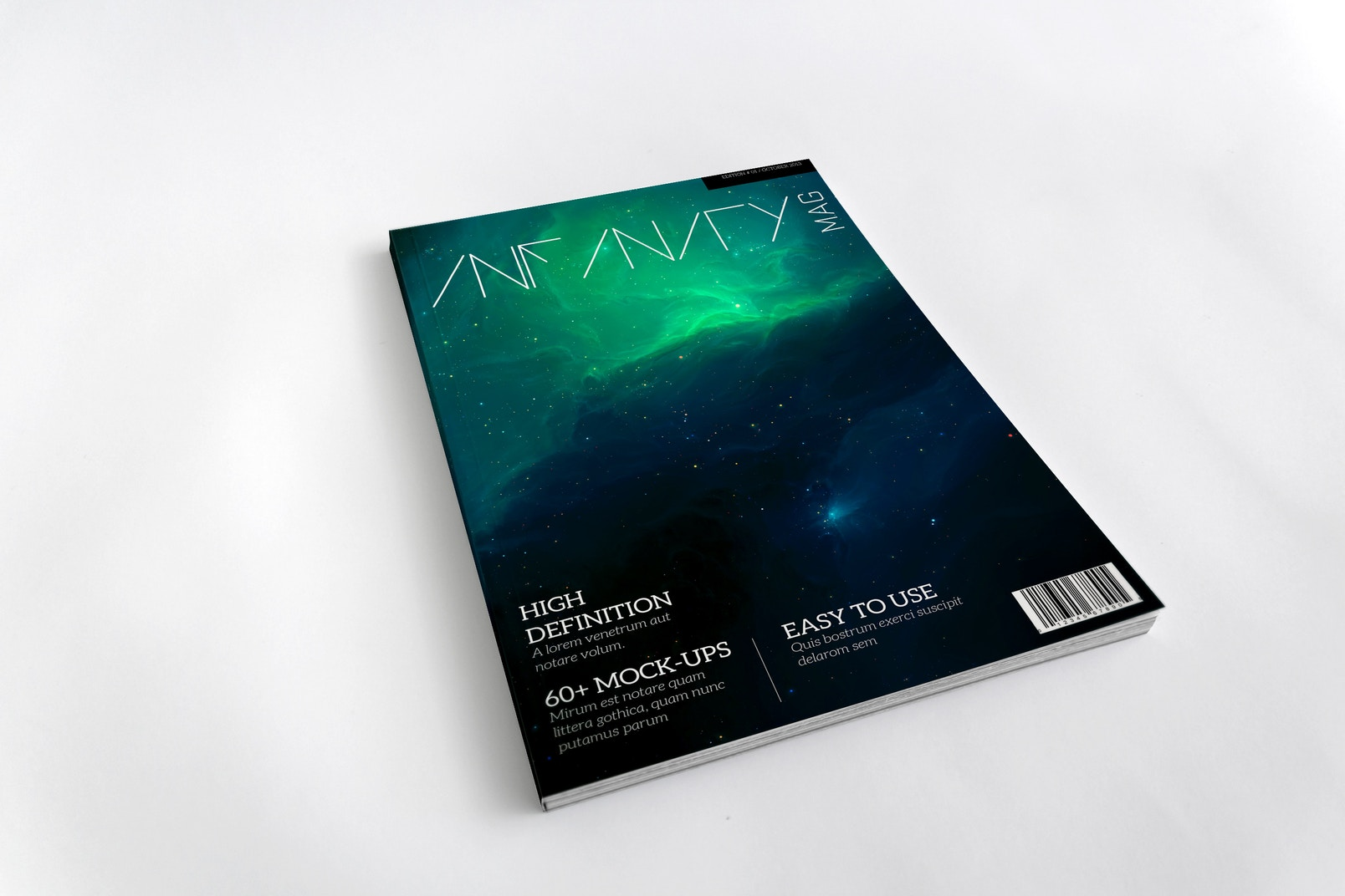 Maqueta para Portada de Revista A4