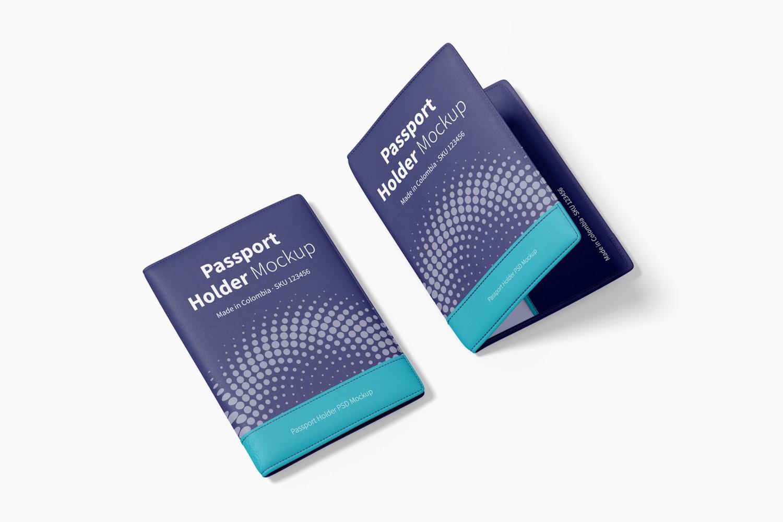 Passport Holders Mockup, Perspective