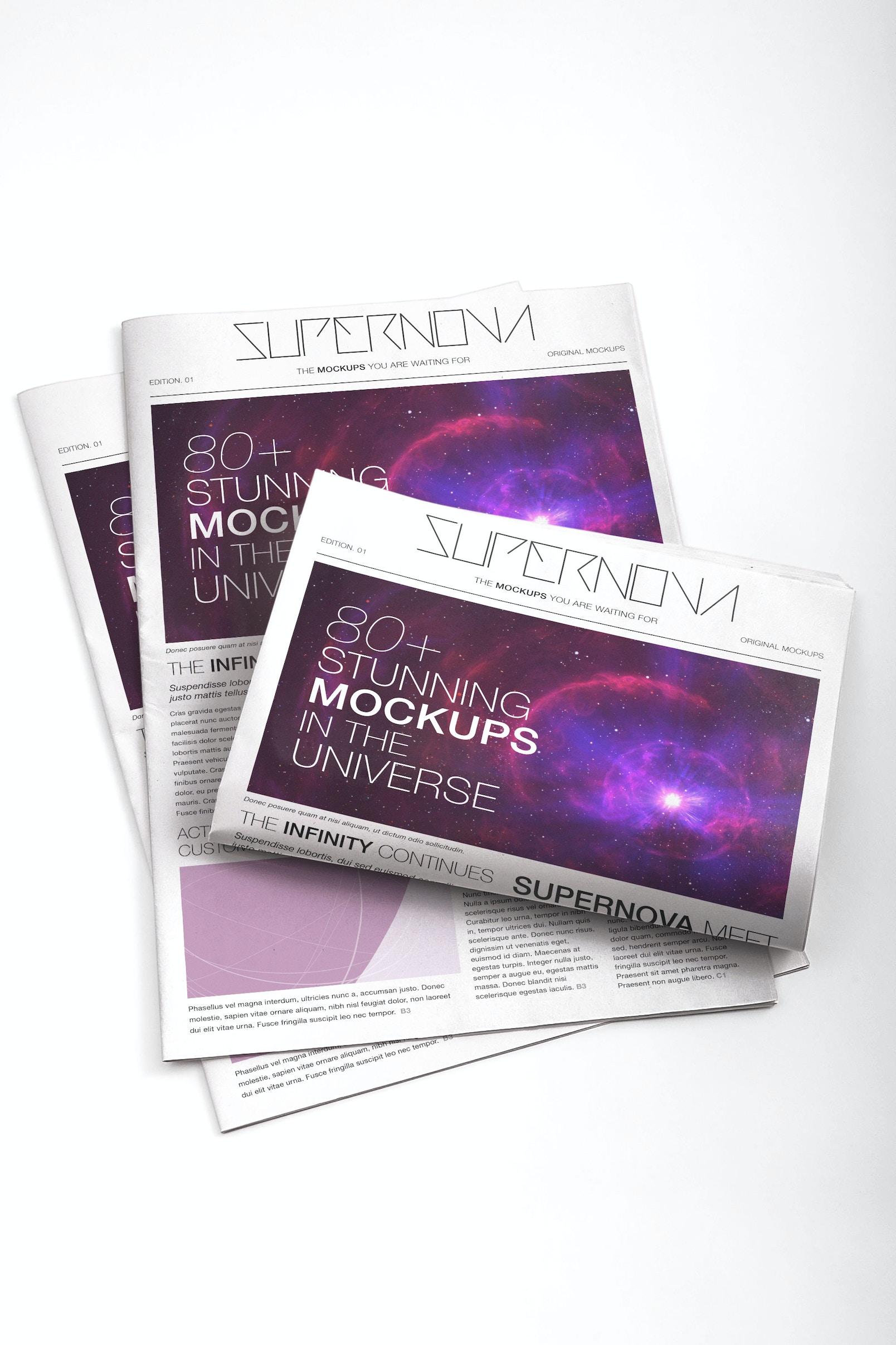 Newspaper PSD Mockup 01