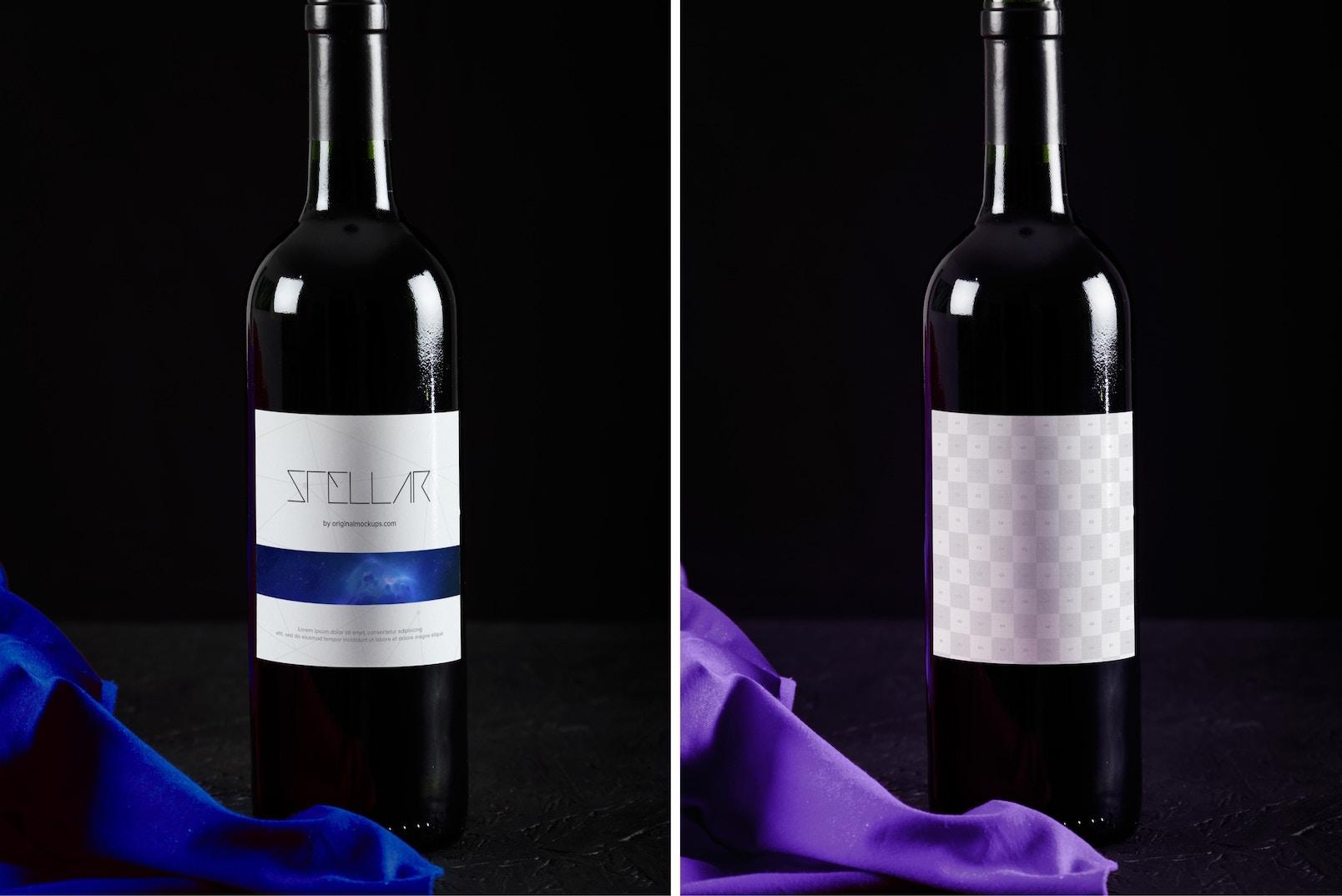 Maqueta de Botella de Vino 9