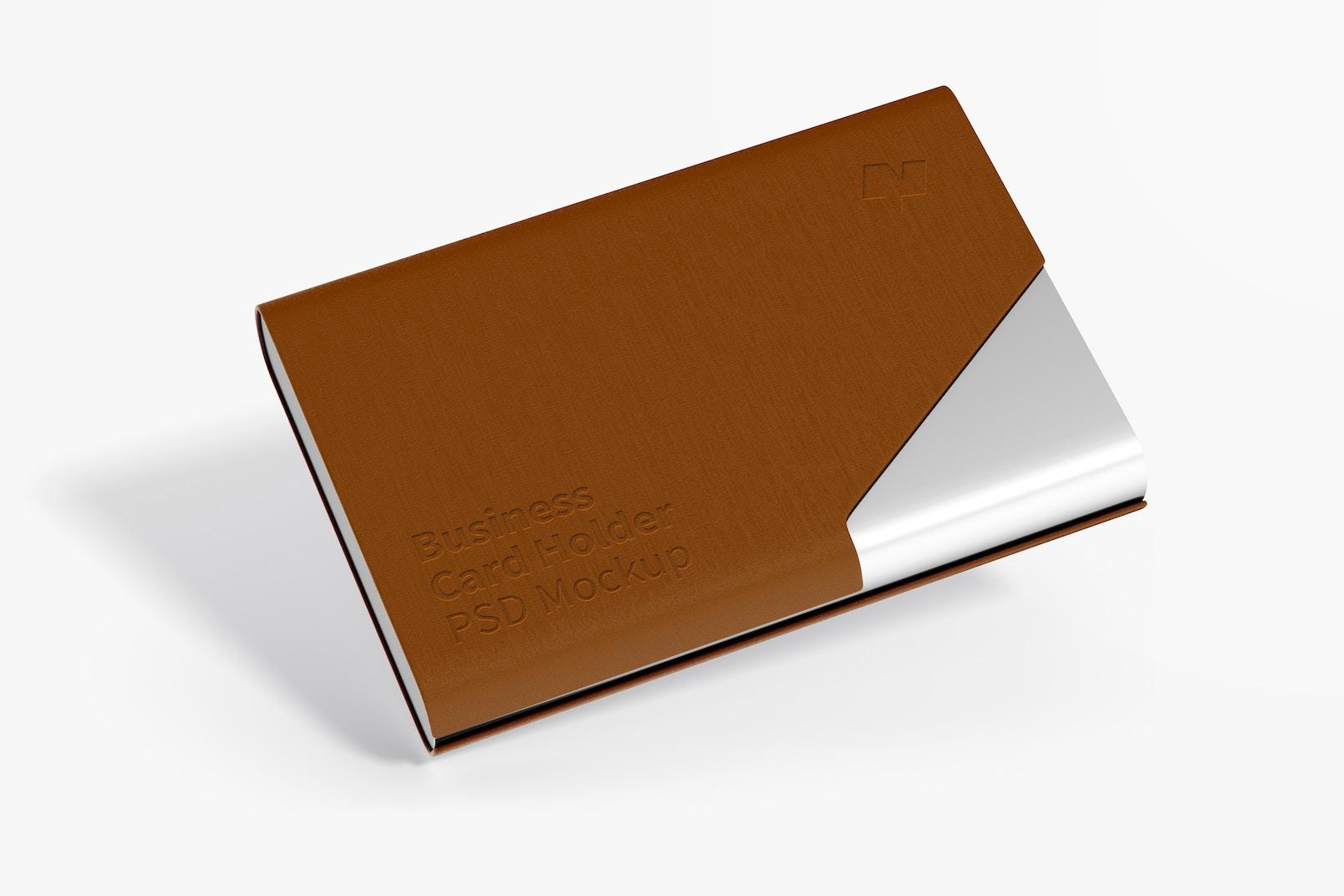 Business Card Holder Mockup, Floating