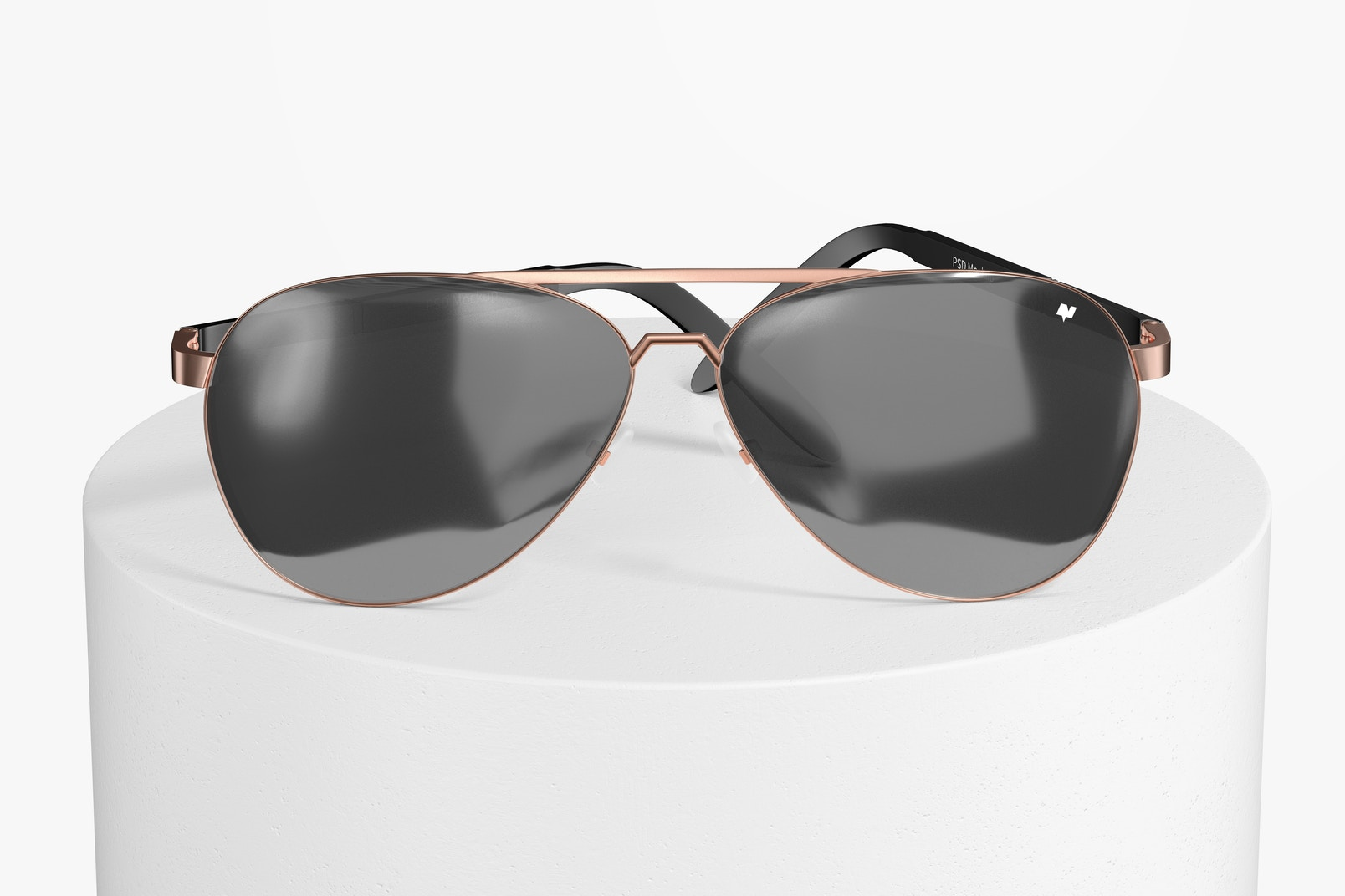 Aviator Sunglasses Mockup, Front View