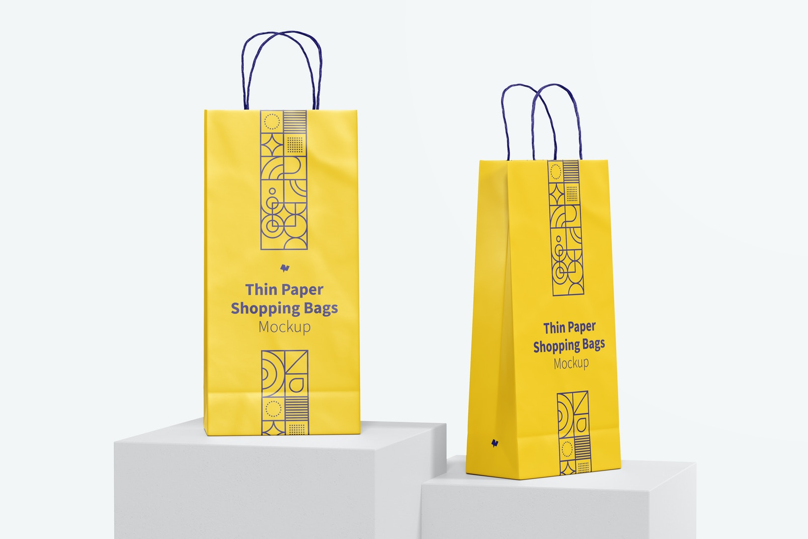Thin Paper Shopping Bags Mockup