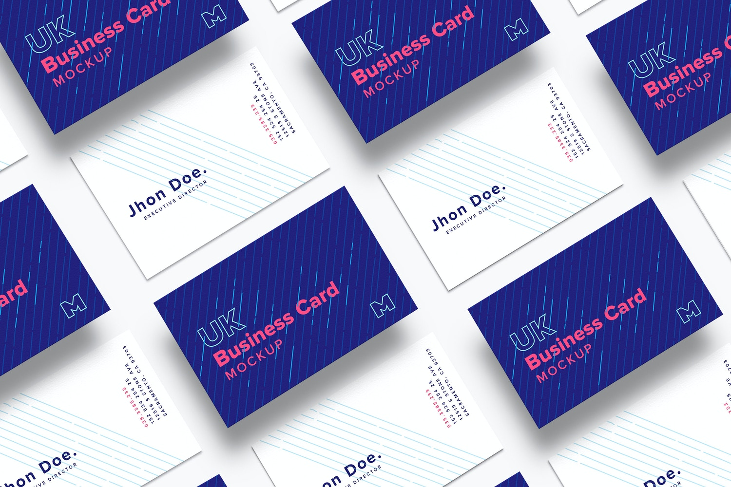 UK Business Cards Mockup 03 by Original Mockups on Original Mockups