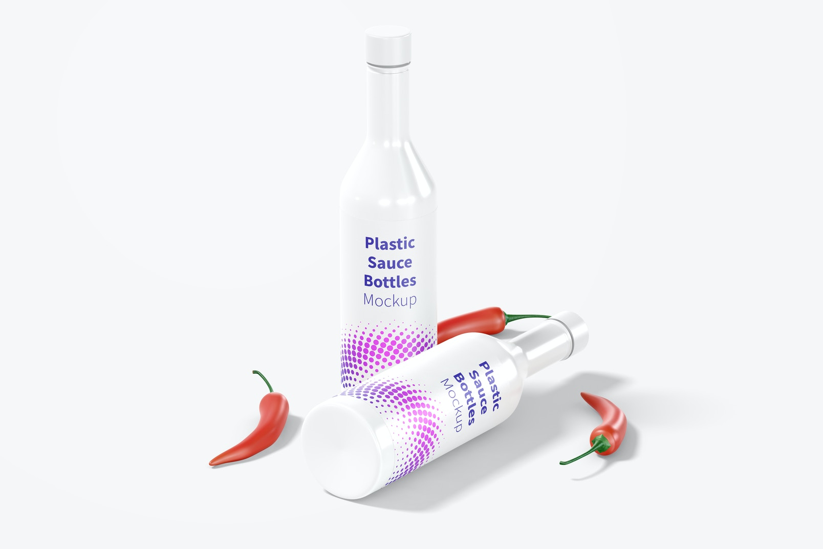 Plastic Sauce Bottles Mockup