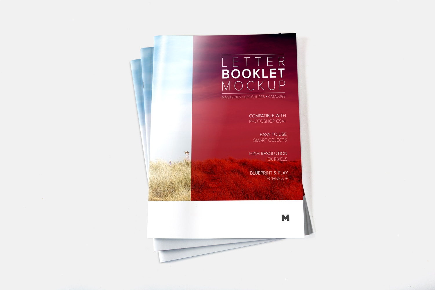 Letter Booklet Stack Cover Mockup 02 by Original Mockups on Original Mockups