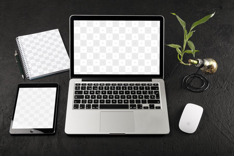 MacBook Pro Retina 13 and iPad Mini Mockup 01
