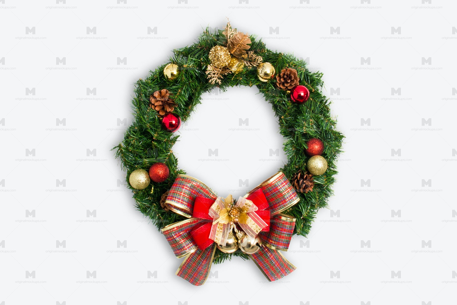 Christmas Wreath Isolate 01 por Original Mockups en Original Mockups