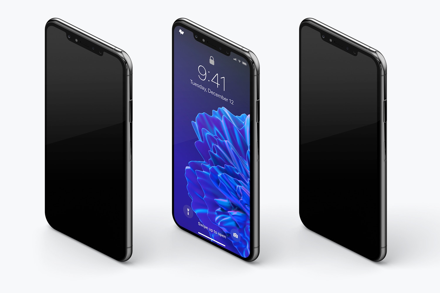 iPhone XS Max Mockup, Isometric Left View 02 (3) by Original Mockups on Original Mockups