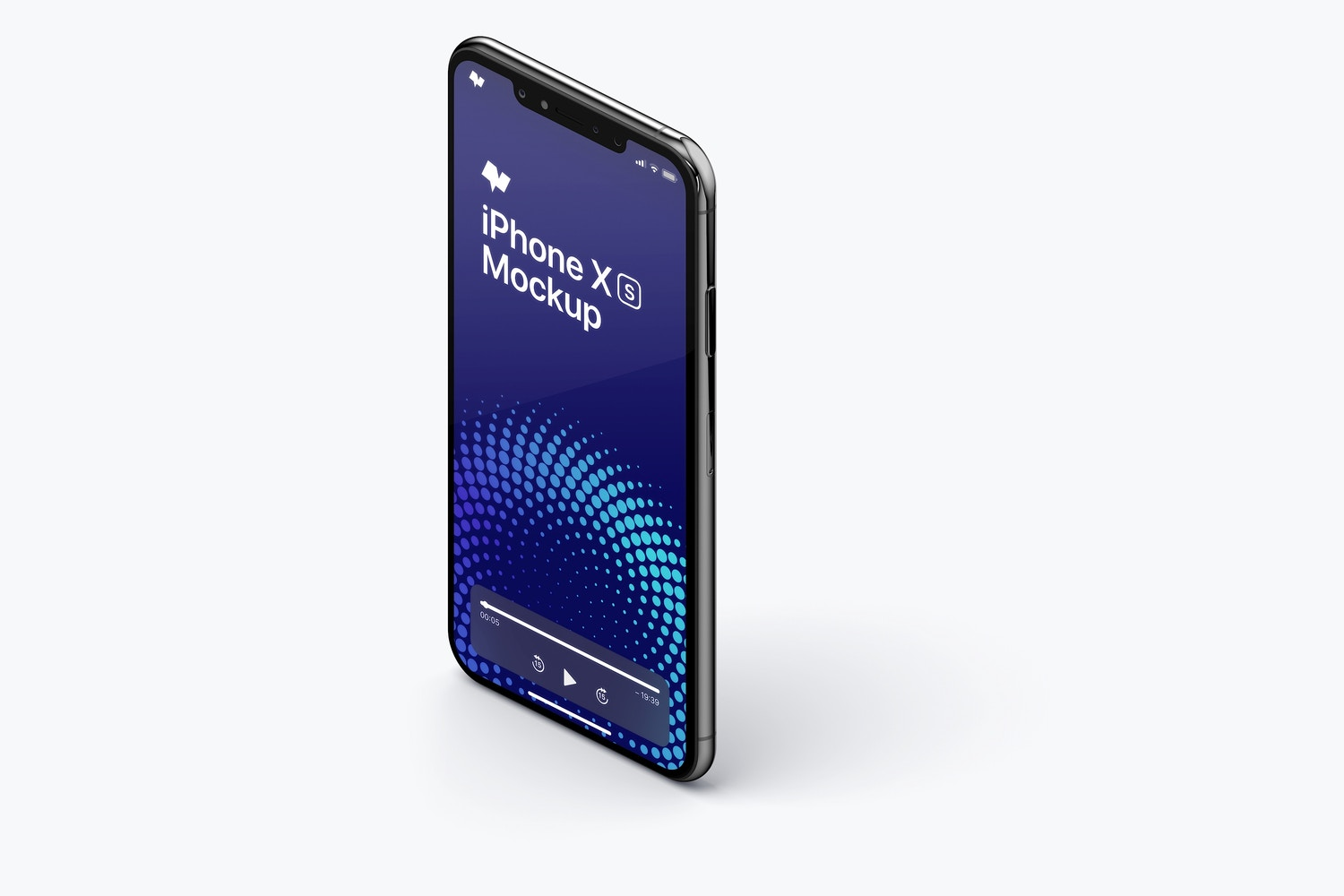 iPhone XS Max Mockup, Isometric Left View 02 by Original Mockups on Original Mockups