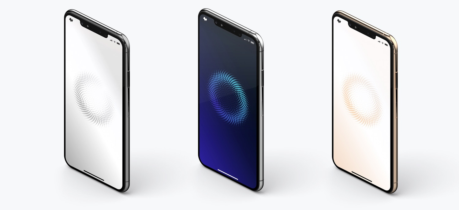 iPhone XS Max Mockup, Isometric Left View 02 (4) by Original Mockups on Original Mockups