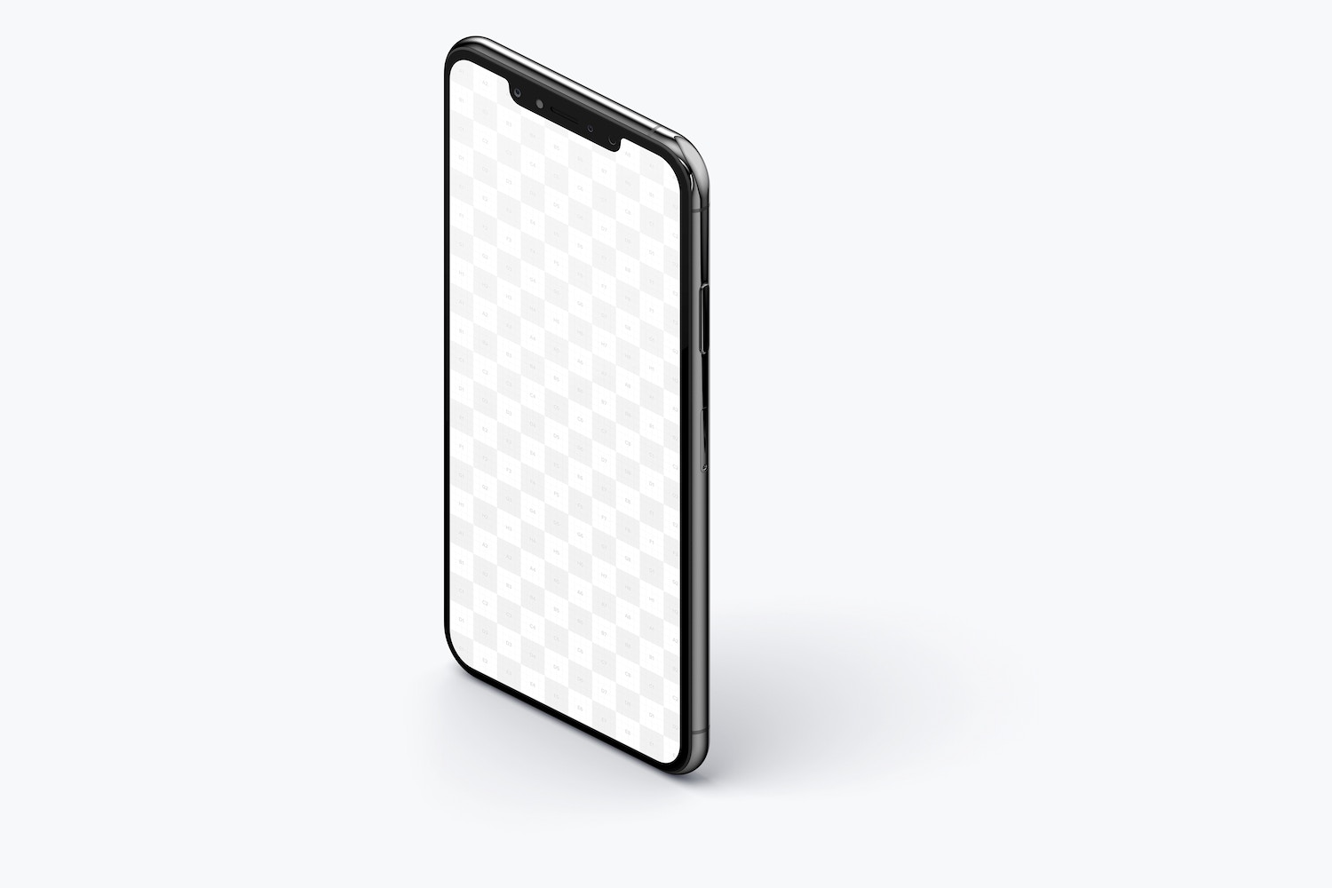 iPhone XS Max Mockup, Isometric Left View 02 (2) by Original Mockups on Original Mockups