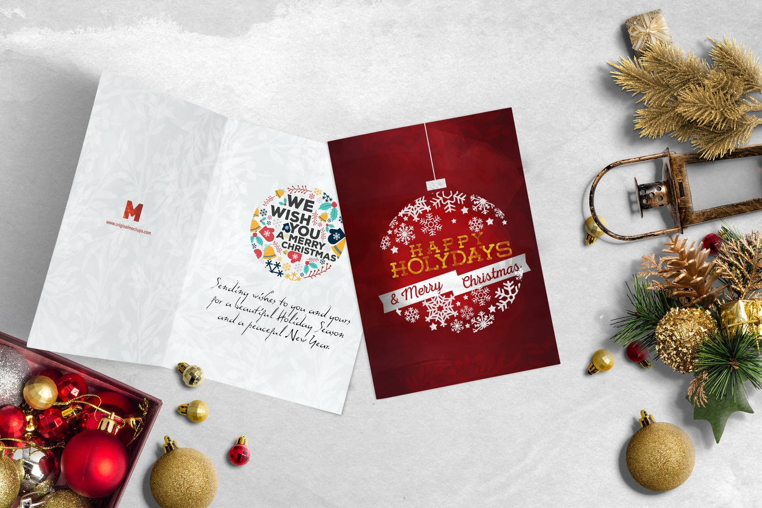 Christmas Header and Hero Scene Mockup 19 por Original Mockups en Original Mockups