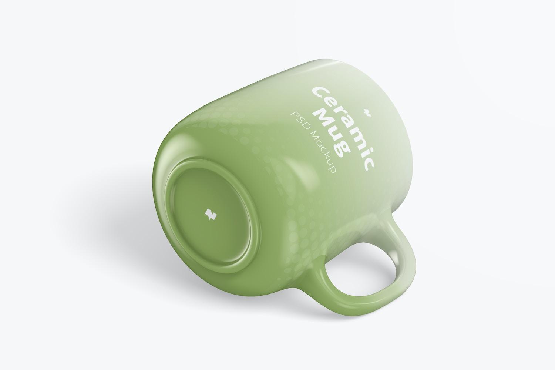 12.2 oz Ceramic Mug Mockup, Isometric View