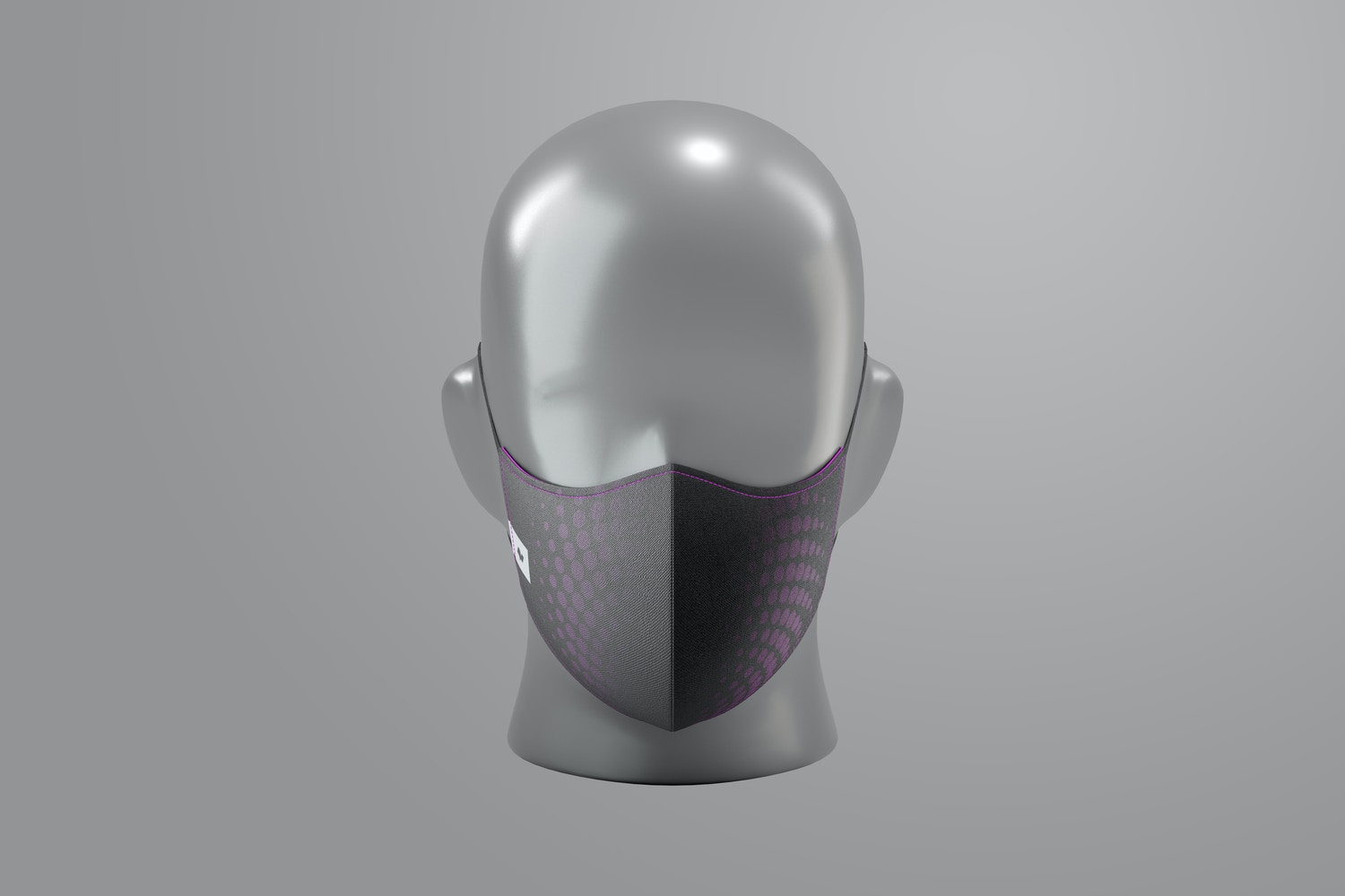Face Mask with Elastic Bands Mockup, Front View