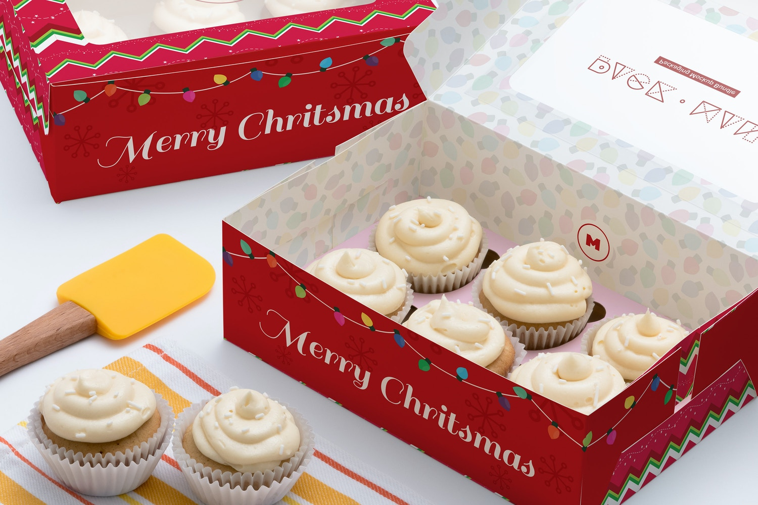 Six Cupcake Box Mockup 01 by Ktyellow  on Original Mockups