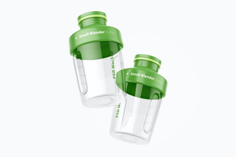 Small Blender Bottles Mockup, Floating