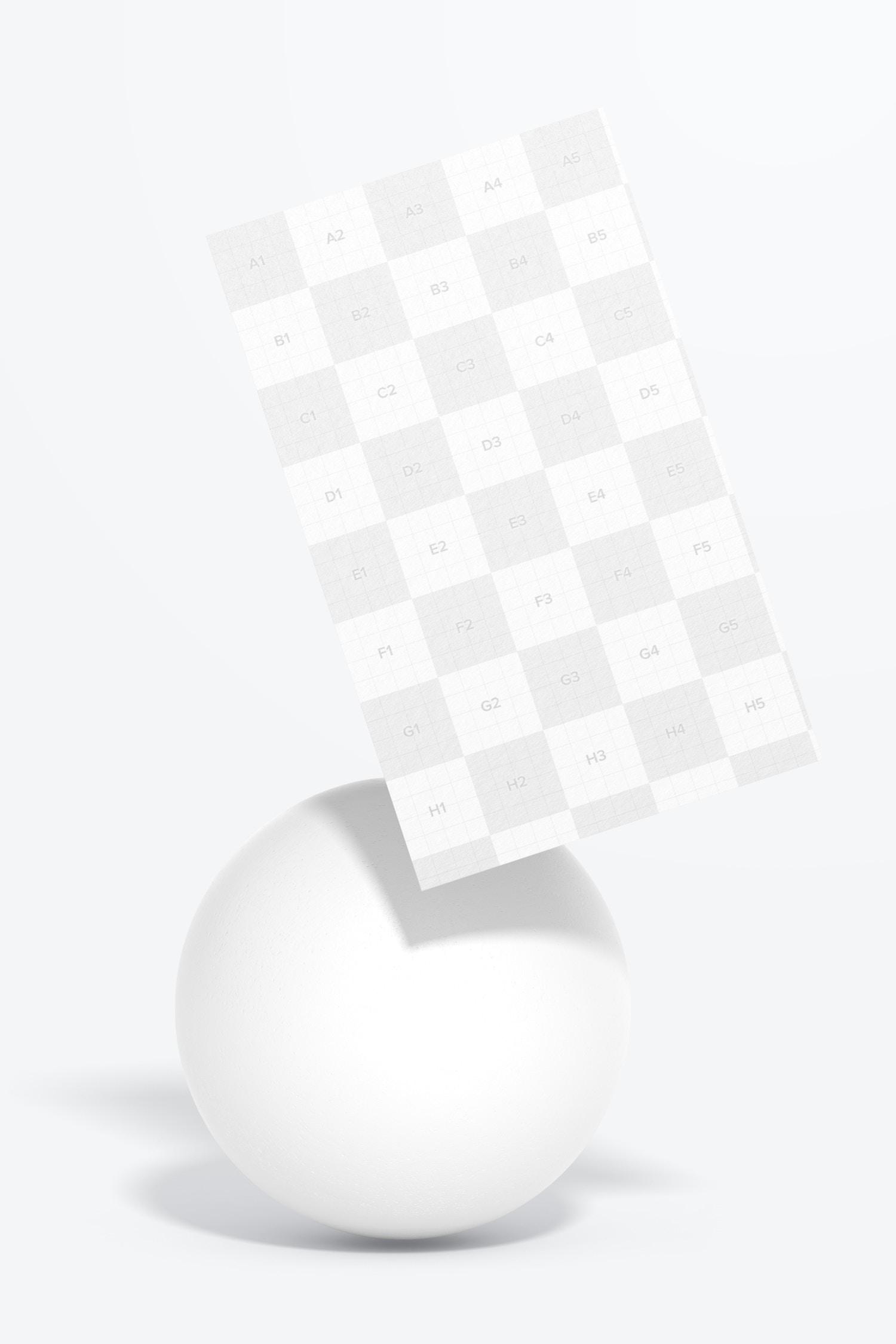 Japan Portrait Business Card Mockup, Floating