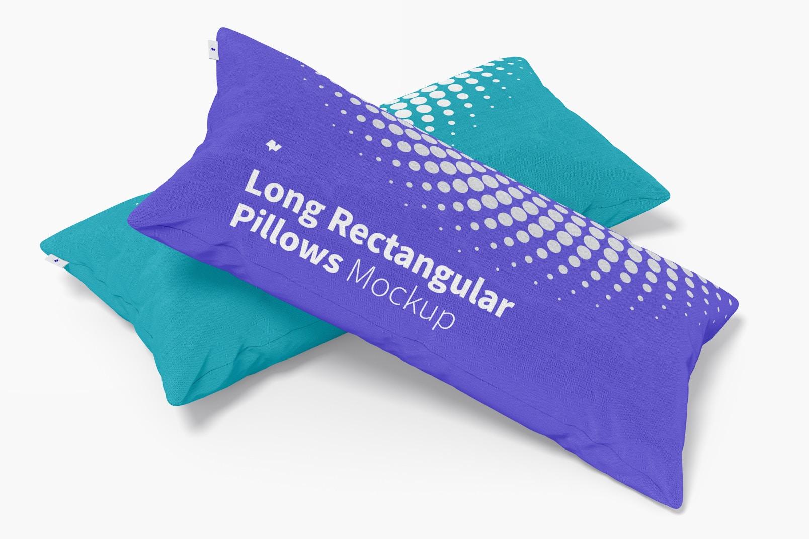Long Rectangular Pillows Mockup, Perspective