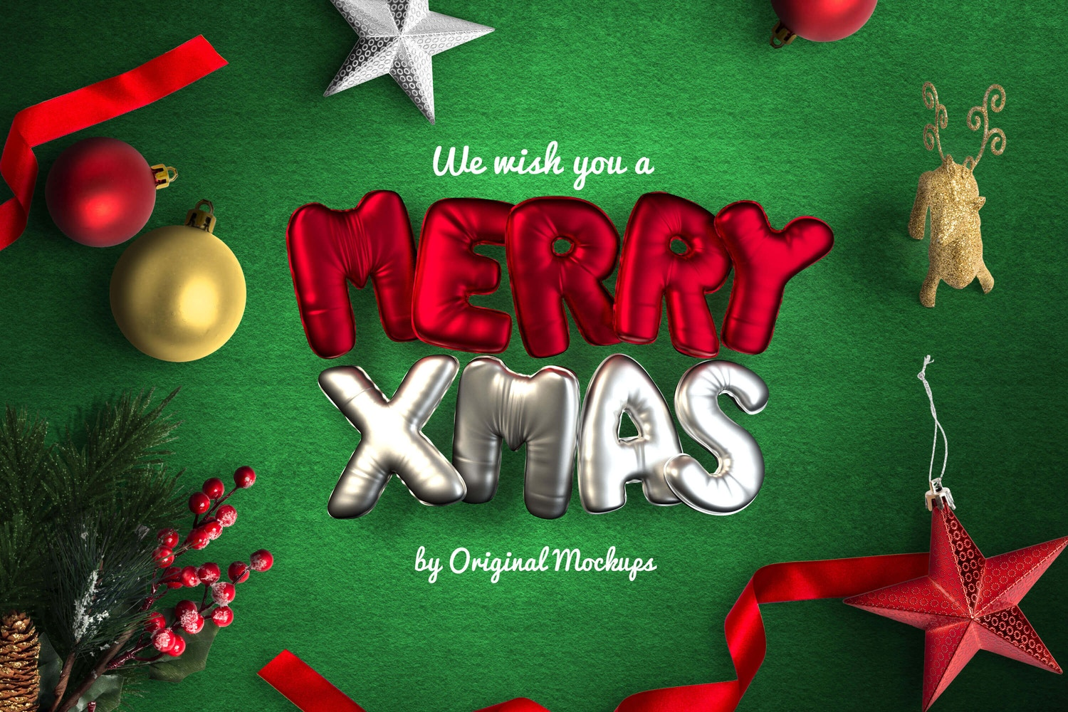 Christmas Header And Hero Scene Mockup 13 por Original Mockups en Original Mockups
