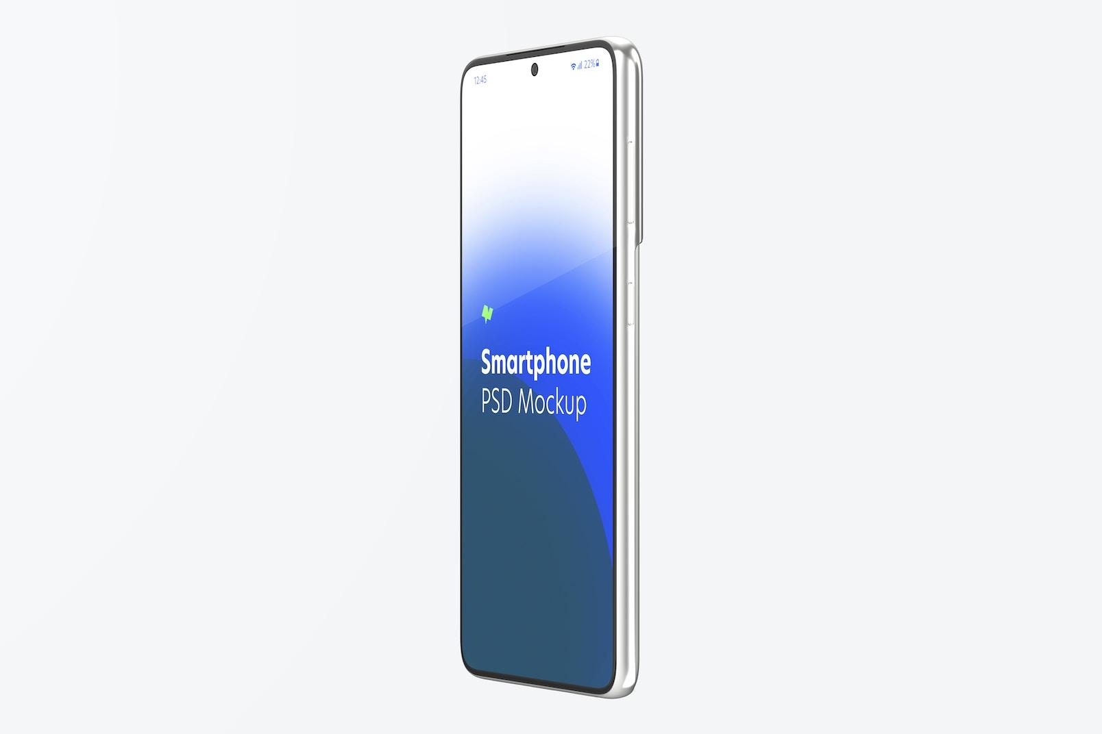 Samsung S21 Mockup, Left Side View