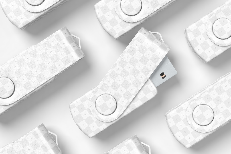 USB Flash Drive Set Mockup