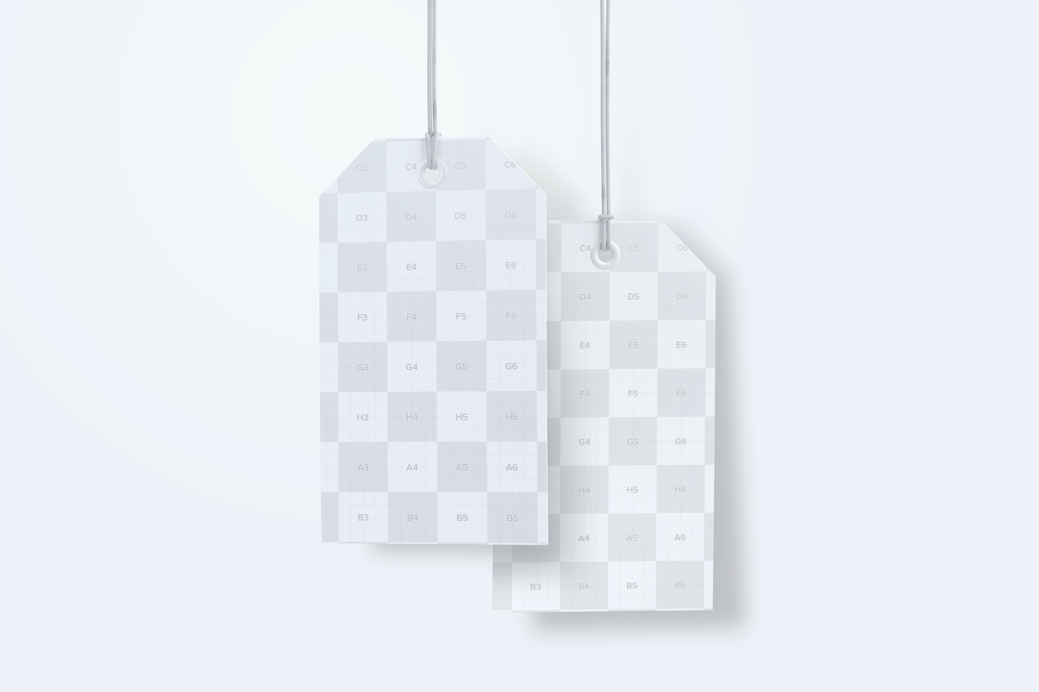 Luggage Hang Tags Mockup with String, Two-sided 03