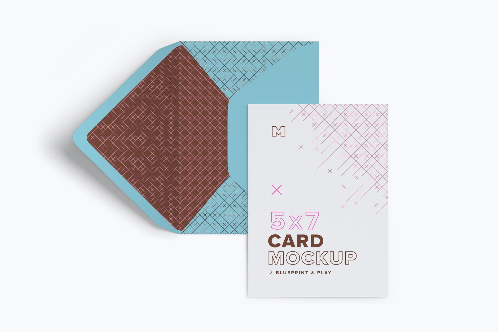A7 Envelope and Portrait Card Mockup