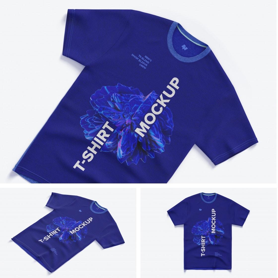Men's Tri-Blend Short Sleeve Crew T-Shirt Mockups Poster