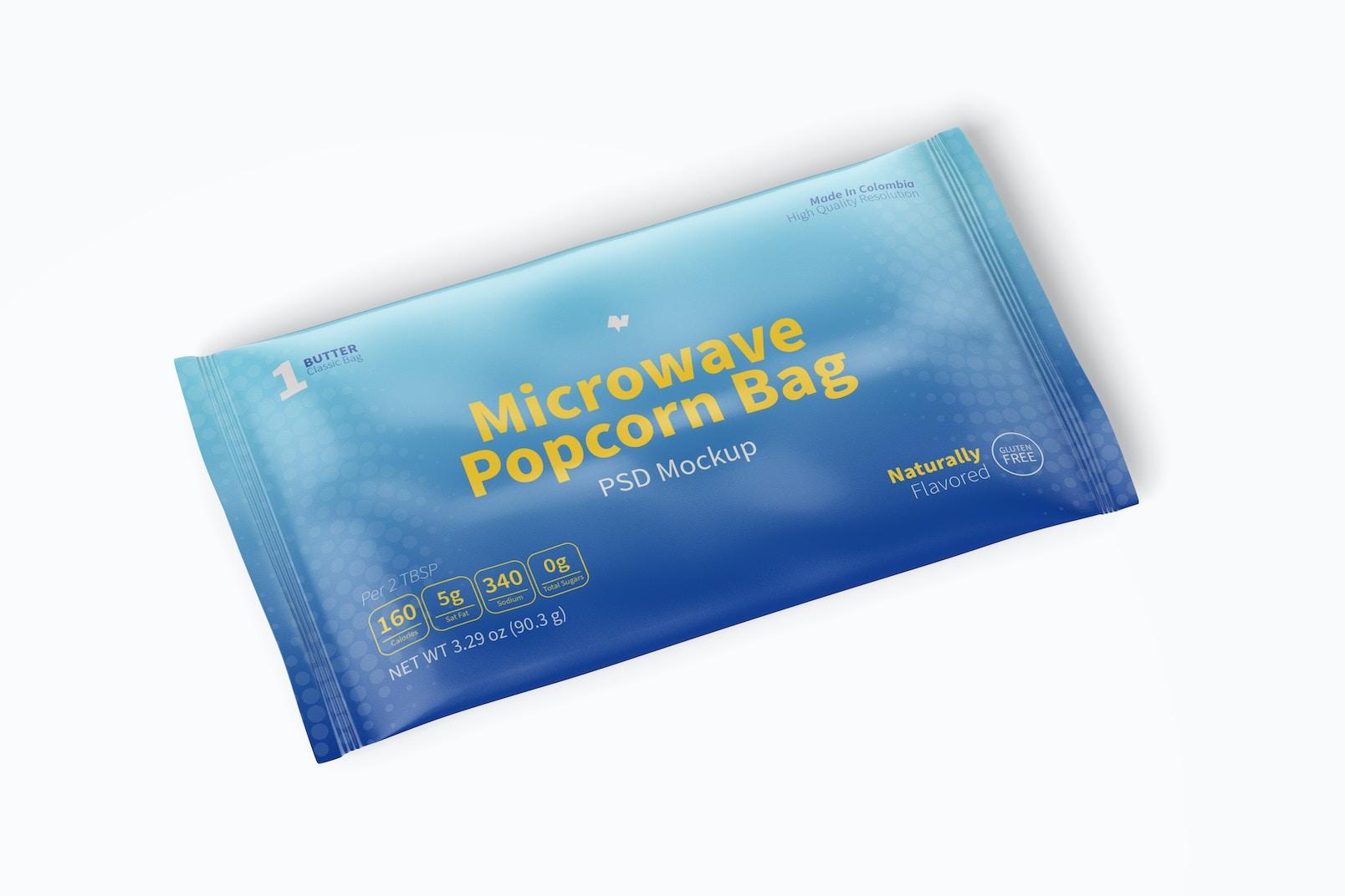 Microwave Popcorn Bag Mockup