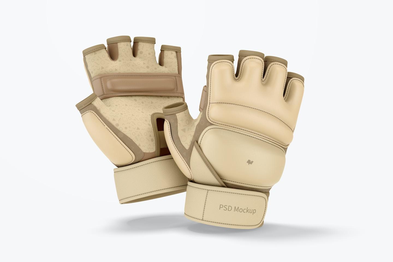 Taekwondo Gloves Mockup, Falling