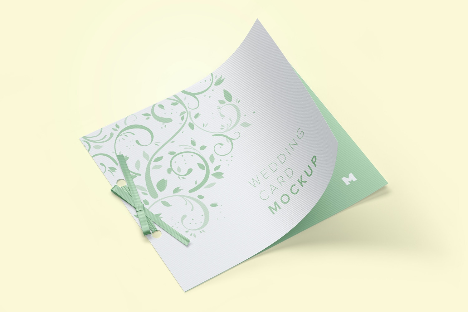 Wedding Card Mockup with Ribbon Bow by Original Mockups on Original Mockups