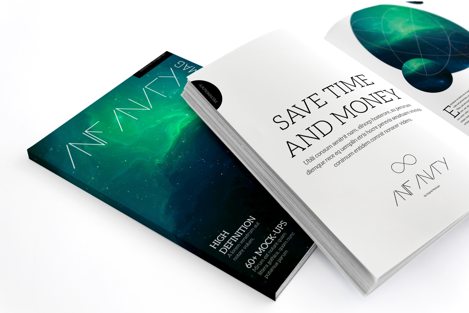 A4 Magazine Mockup for Spread Page & Cover 03 by Original Mockups on Original Mockups