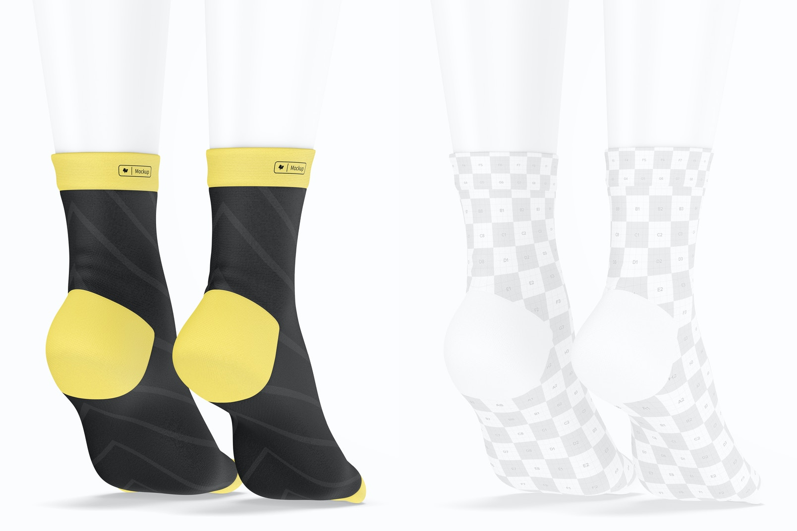 Sports Cycling Socks Mockup