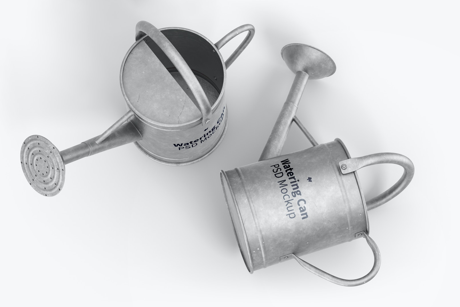 Watering Cans Mockup, Top View
