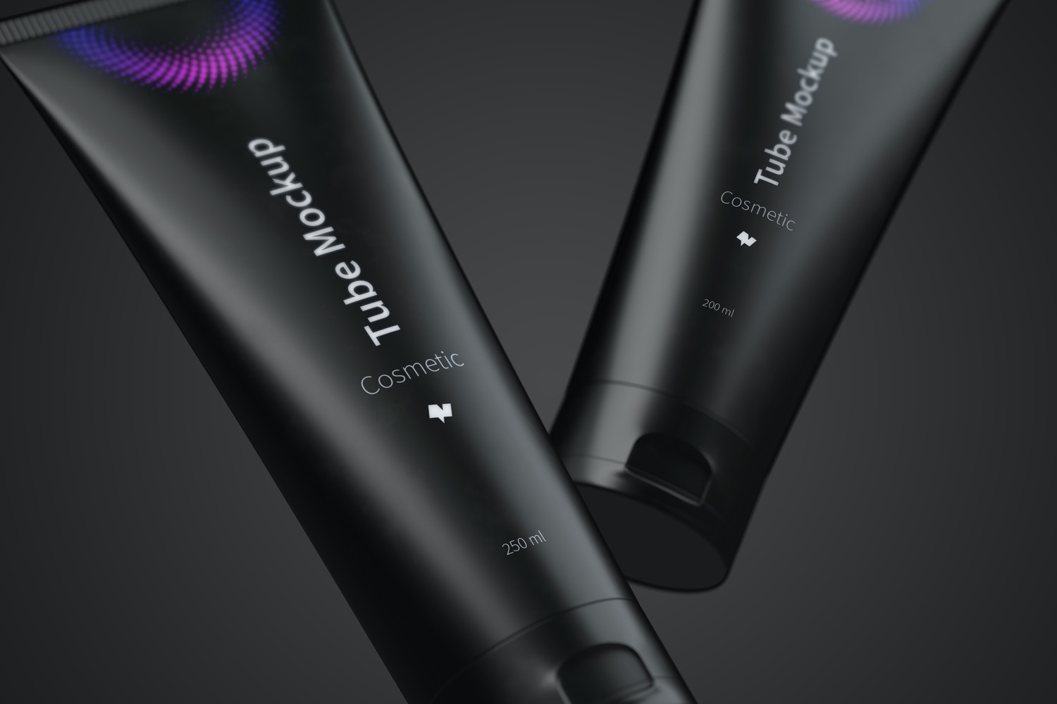 Cosmetic Tube Mockup in Two Sizes, Close-up