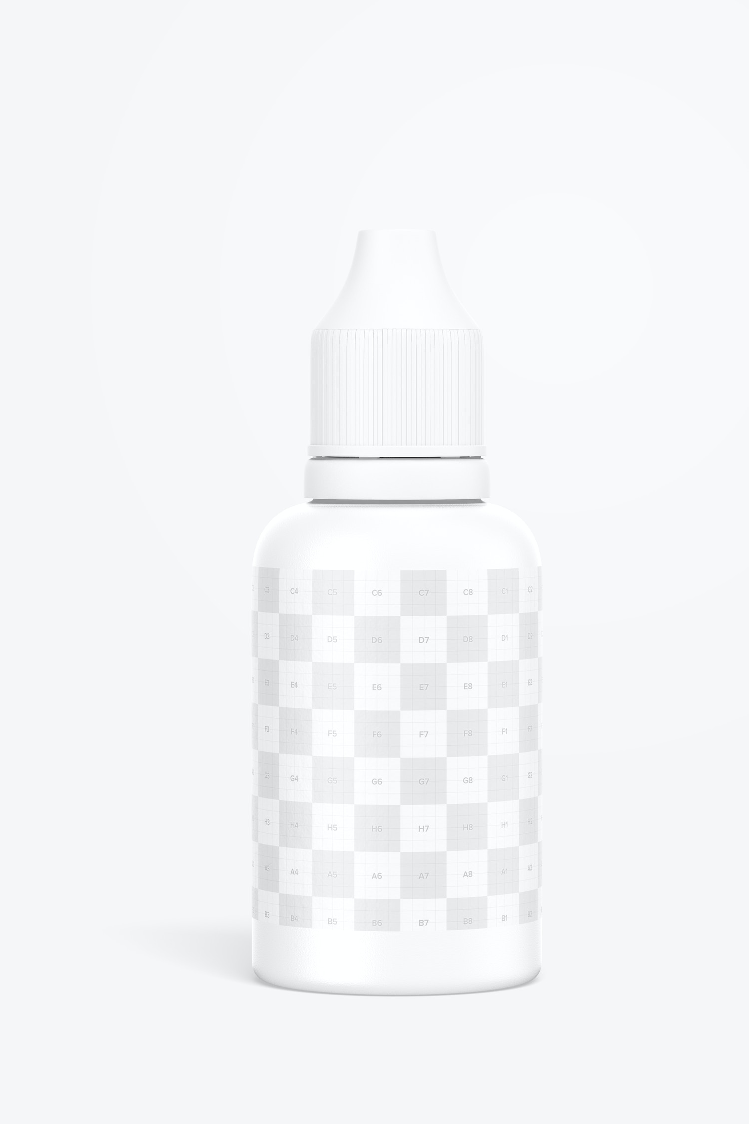 0.5 oz Micro Pigment Tattoo Bottle Mockup, Front View