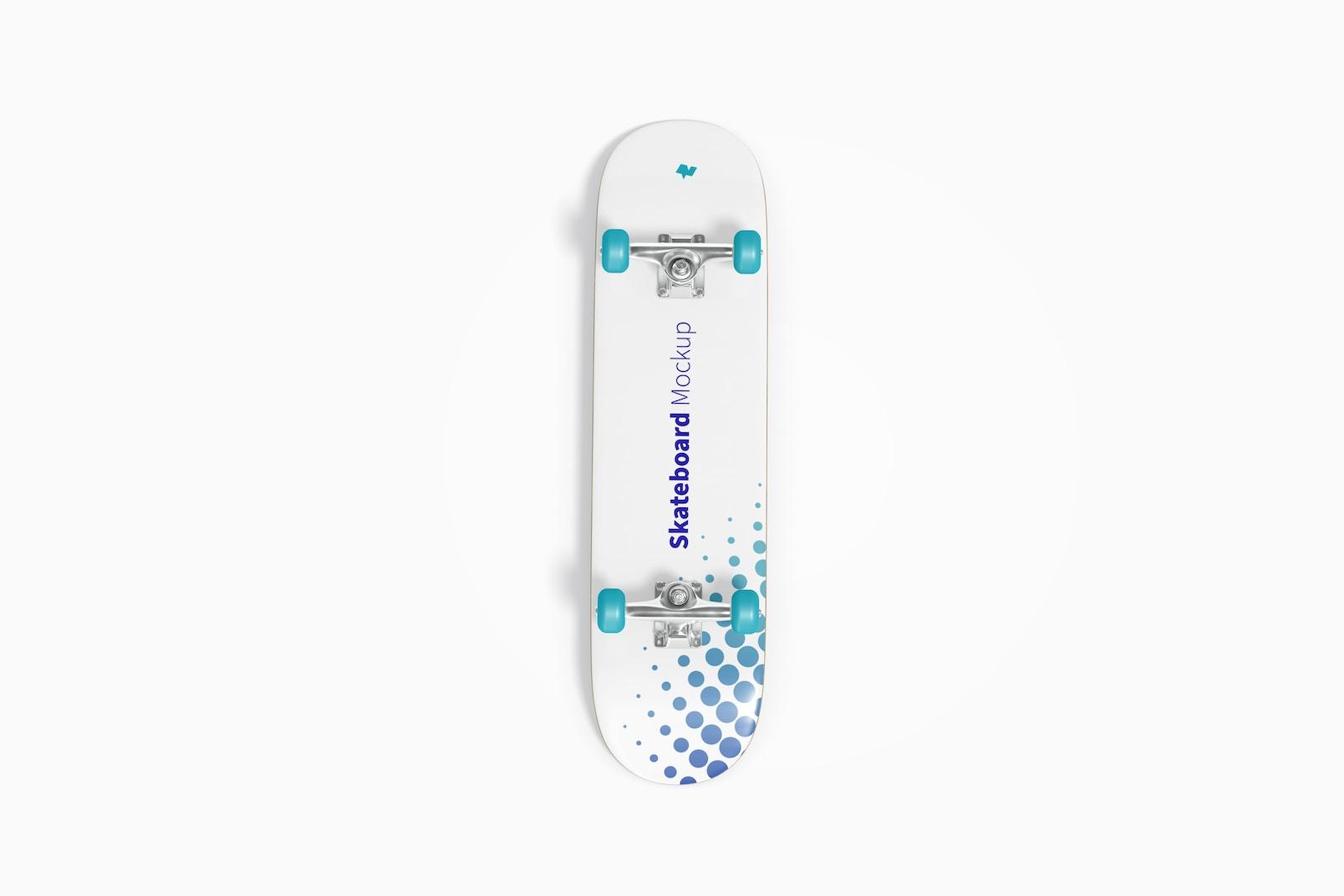 Skateboard Mockup, Top View