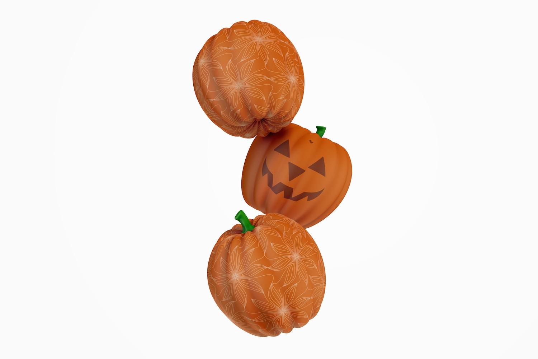 Decorative Pumpkins Mockup, Floating
