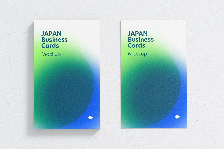 Japan Portrait Business Cards Mockup