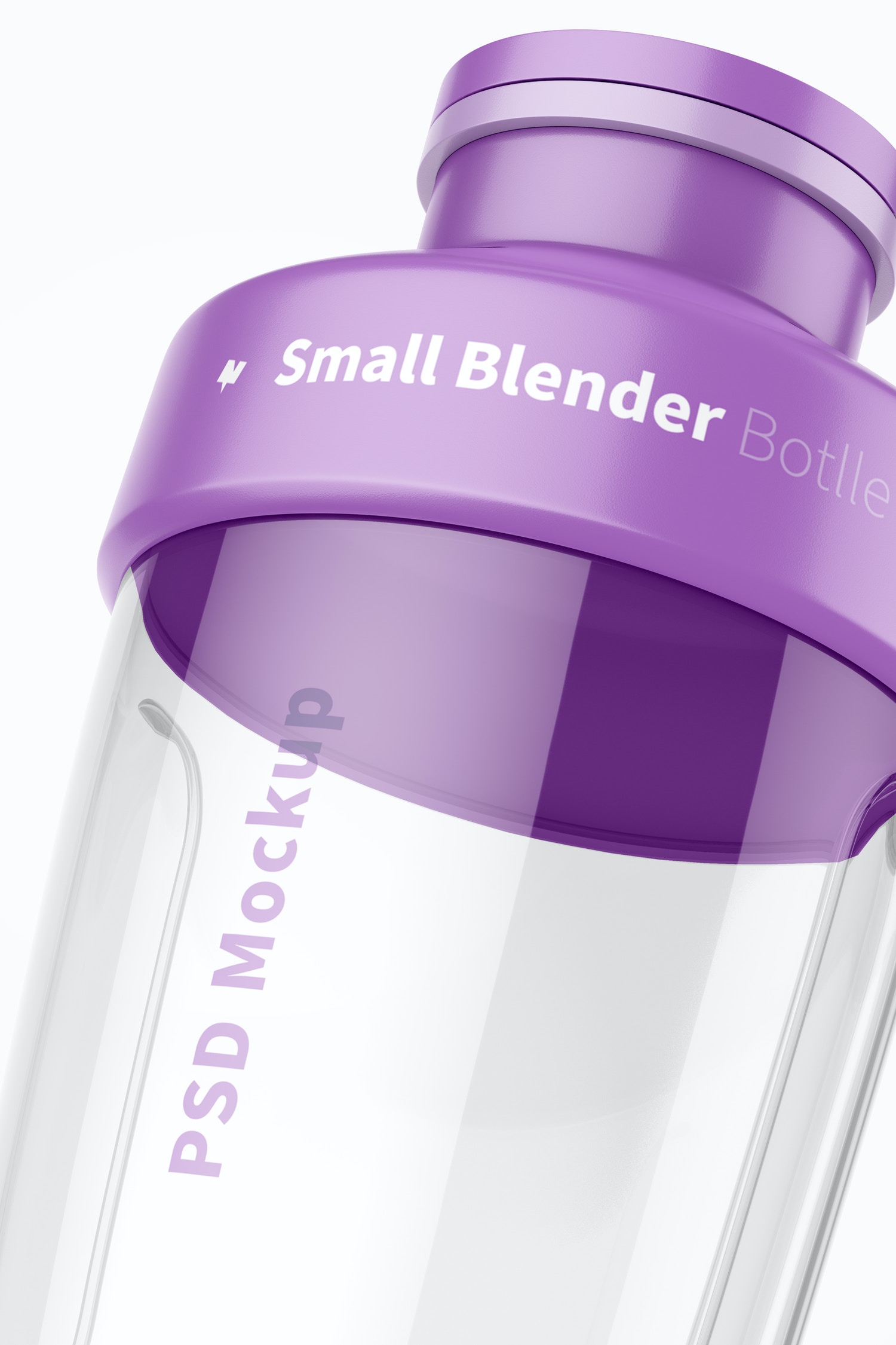 Small Blender Bottle Mockup, Close Up