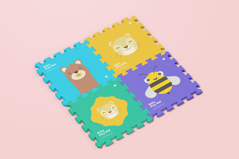 Baby Play Mat Set Mockup