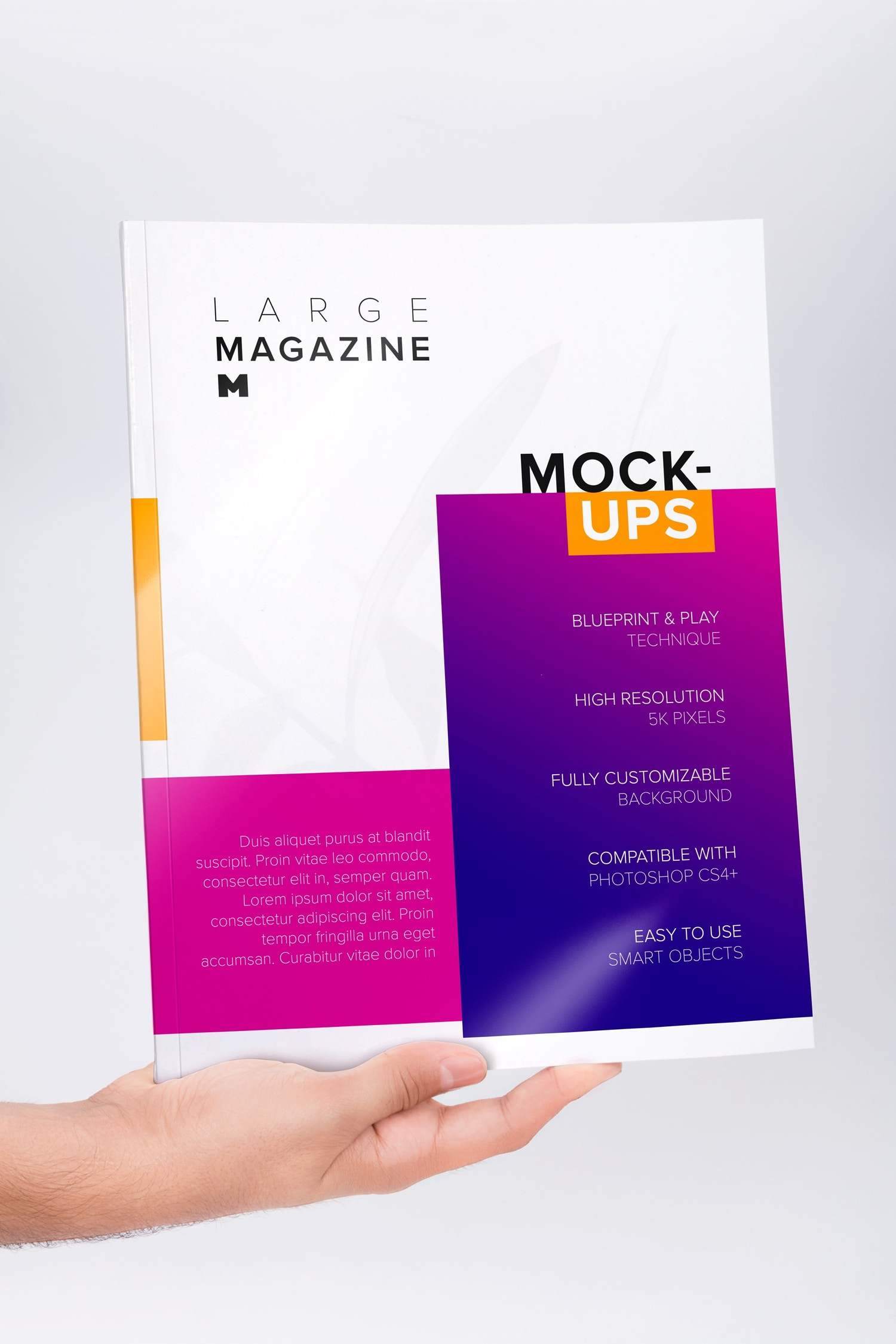 Large Magazine Cover Mockup 01