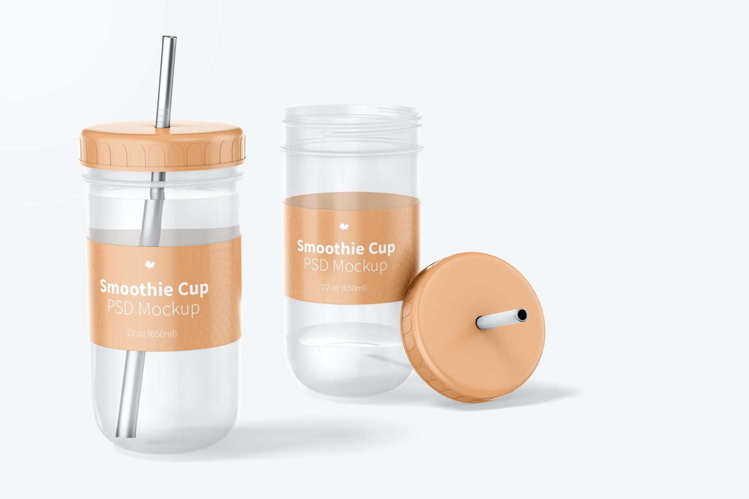 Smoothie Cups with Lid Mockup