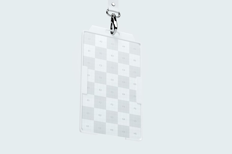 Vertical ID Card Mockup 02