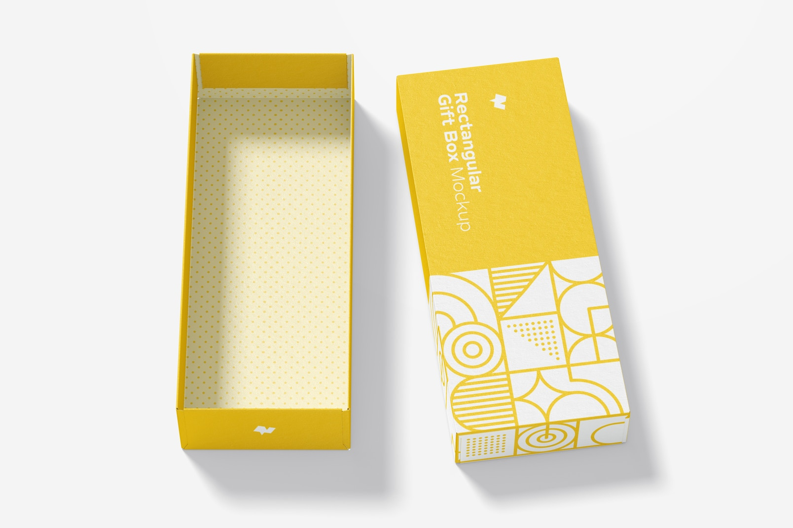 Rectangular Gift Box Mockup