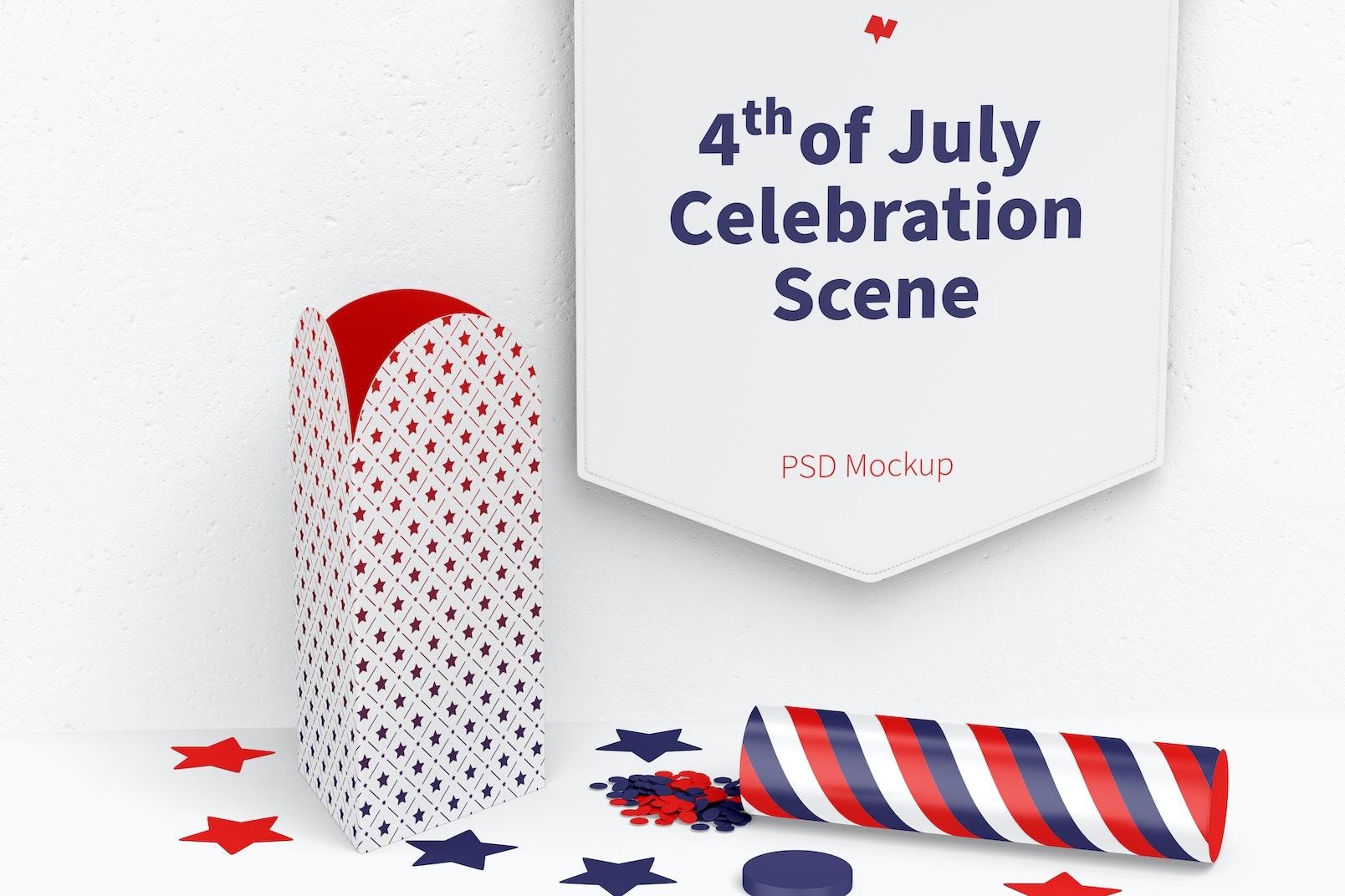 4th of July Celebration Scene Mockup