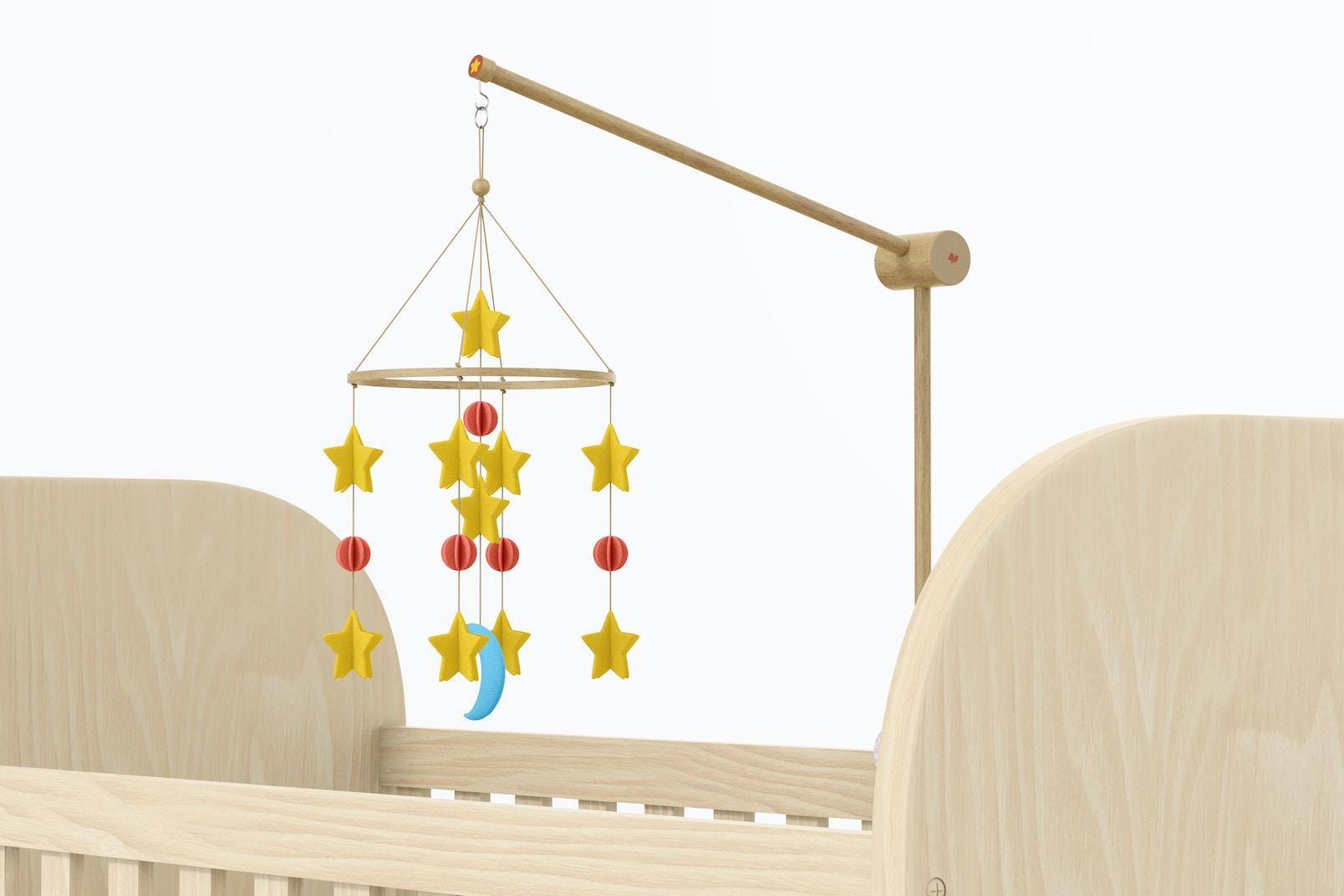 Baby Crib Mobile Mockup